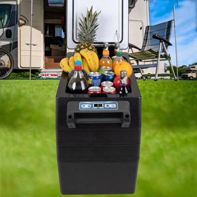 Autochladnička mraznička lednice kompresorová chladící box do auta Aroso 12V 24V 230V 52l - chlazení potravin a nápojů