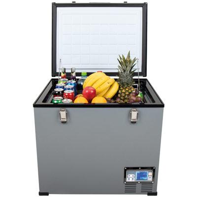 Autochladnička mraznička lednice kompresorová chladící box do auta Aroso 12V 24V 230V 60l - velký vnitřní objem