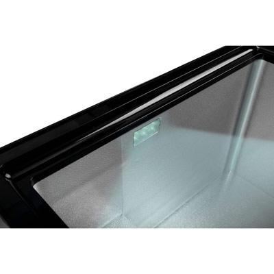 Autochladnička mraznička lednice kompresorová chladící box do auta Aroso 12V 24V 230V 95l - vnitřní osvětlení