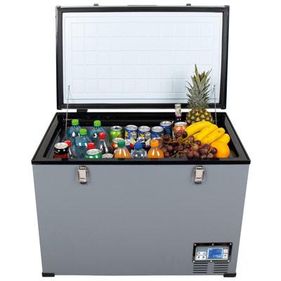 Autochladnička mraznička lednice kompresorová chladící box do auta Aroso 12V 24V 230V 95l - chlazení potravin a nápojů