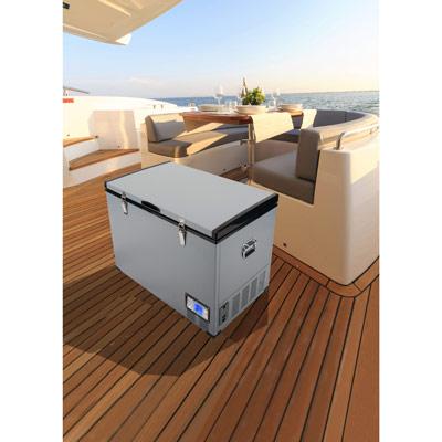 Autochladnička mraznička lednice kompresorová chladící box do auta Aroso 12V 24V 230V 95l - dokonale navržená ergonomie
