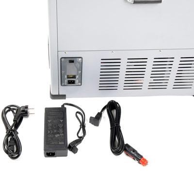Autochladnička mraznička lednice kompresorová chladící box do auta Aroso 12V 24V 230V 100l - vícesystémové napájení
