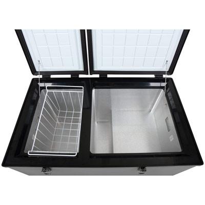 Autochladnička mraznička lednice kompresorová chladící box do auta Aroso 12V 24V 230V 100l - dva oddělené vnitřní prostory