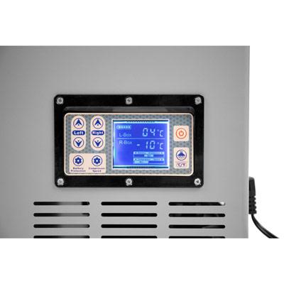 Autochladnička mraznička lednice kompresorová chladící box do auta Aroso 12V 24V 230V 100l - nízká proudová spotřeba